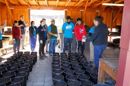 Students Learn To Plant