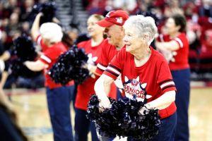 Senior Lady Cheering
