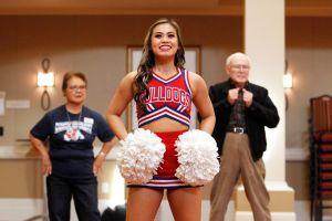 Cheerleader With The Senior Dog Squad