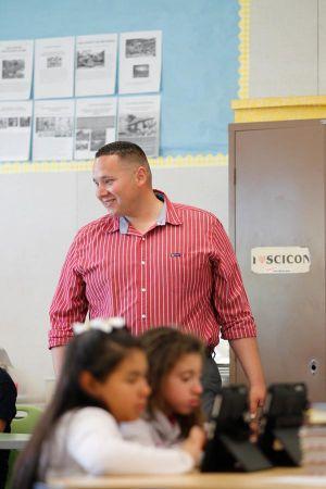 Danny Velazquez In A Classroom