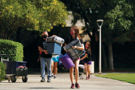 225 students moved into the dorms