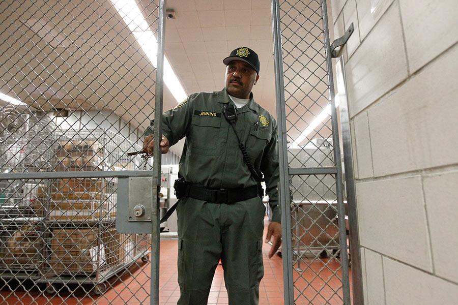 guard closing gate